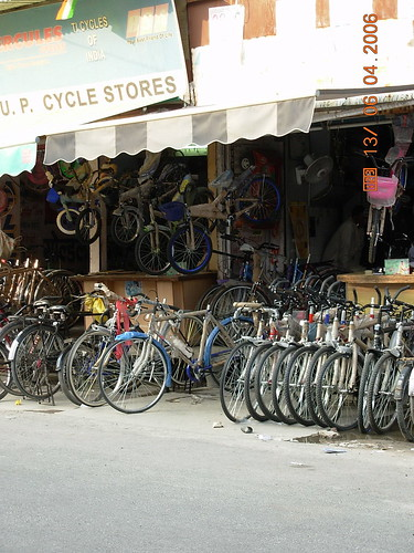 A cycle store in India