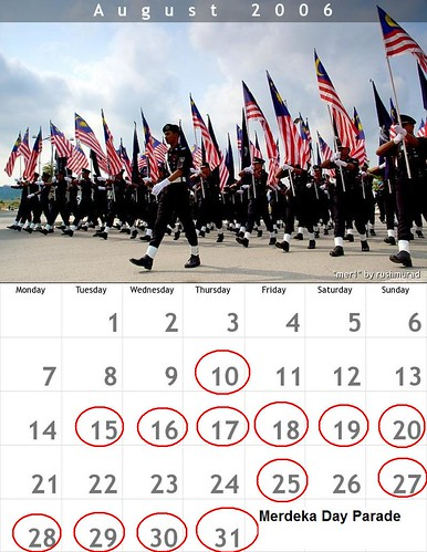 Agenda August Aku Calendar