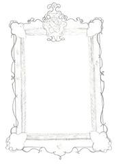 Skizze eines Spiegels