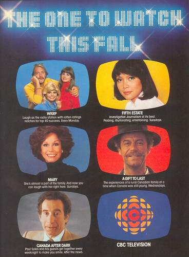 Vintage Ad #43 - CBC TV Fall '78 Spotlight