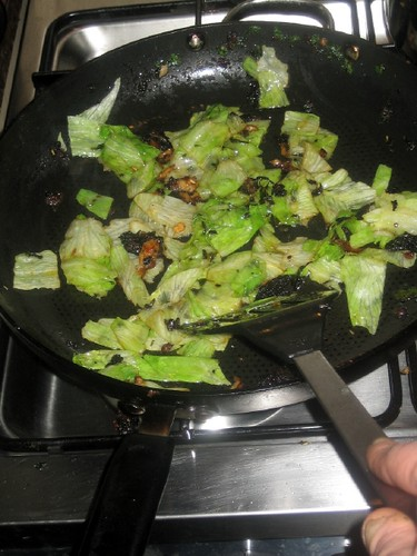 Lettuce cooking