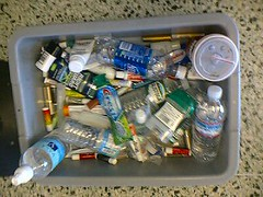 bin of banned items at san jose airport