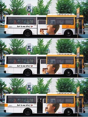 Bus Ad - Just in one bite!