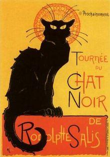 Steinlein畫的黑貓海報