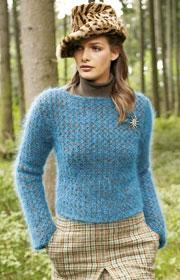Verena - blue mohair mix