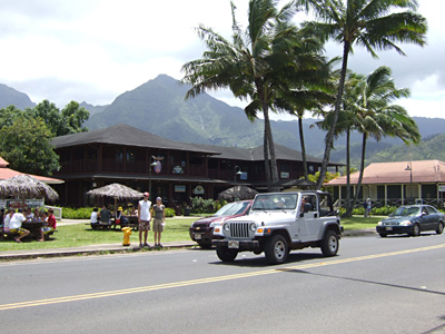 Kuhio Highway which passes through the centre of Hanalei