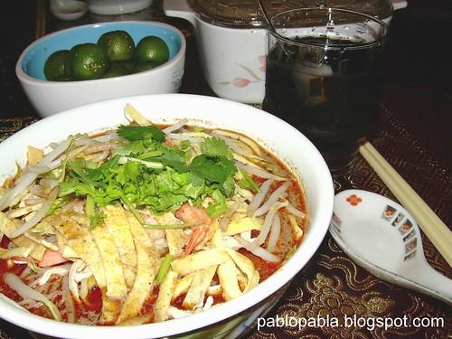 sarawak laksa recipe. delicious Sarawak Laksa.