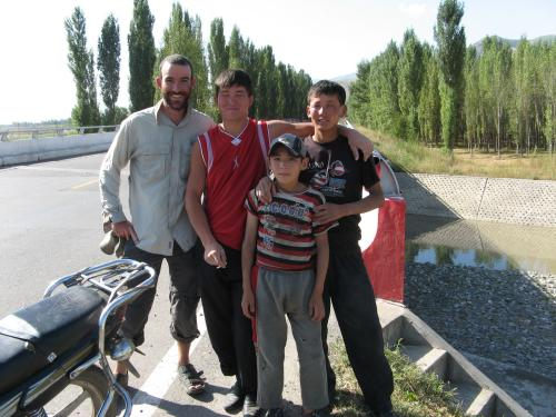 Three Kazakhs and a New Zealander - Alatube (Alatudo), western China