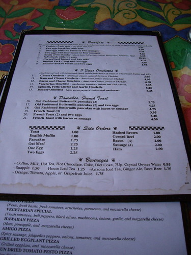 valencia pizza & pasta menu