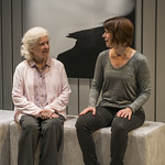 Mary Ann Thebus (Marjorie) and Kate Fry (Tess) in MARJORIE PRIME at Writers Theatre. Photo by Michael Brosilow.