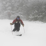12/3/16 We found a few pockets today - snow showers and snowmaking continue!