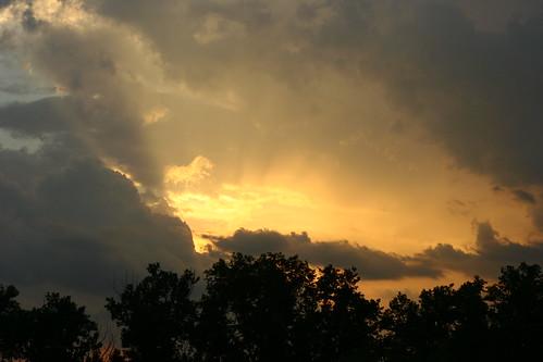 Skies are threatening rain