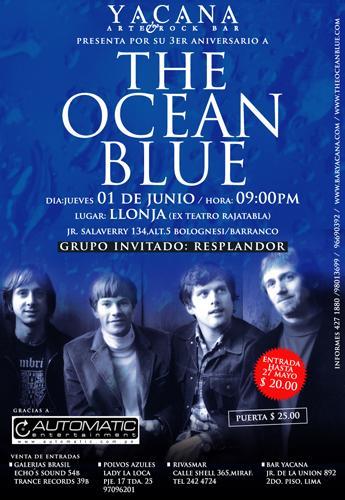 Flyer The Ocean Blue en Lima