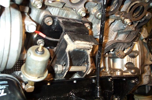 I am also using Holden gearbox mounts, and to use them I have made an