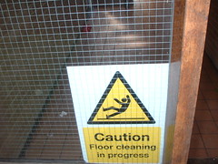 Caution - Floor cleaning in progress