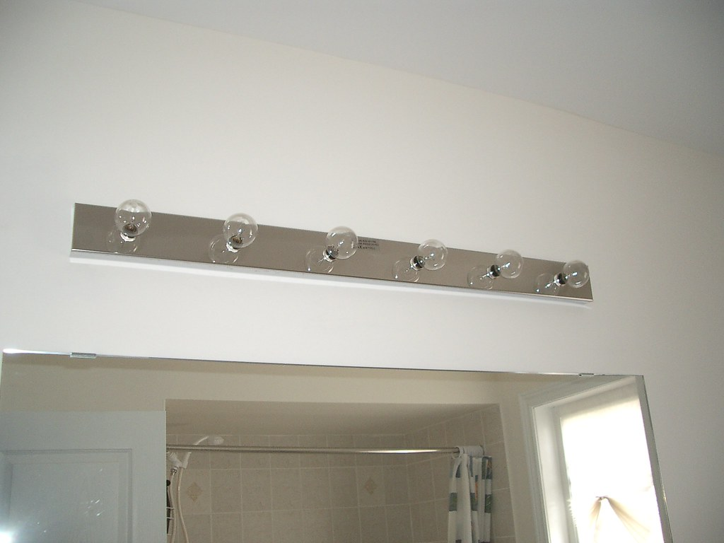 The silver maple project diy vanity light installation aloadofball Image collections