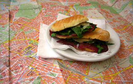 Sandwich on Map