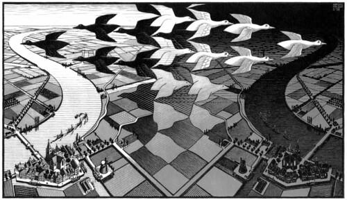 Día y Noche, de M.C. Escher