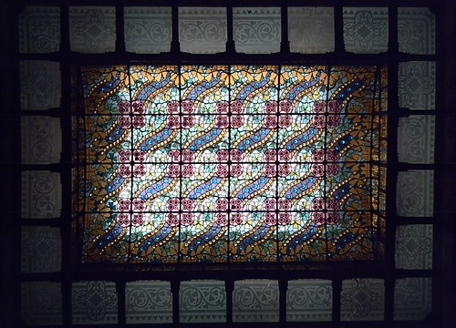Stained Glass Ceiling At Casa Amatller
