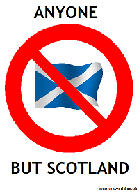 Anyone but Scotland logo