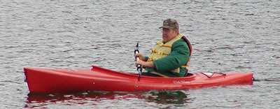 Dad in the kayak