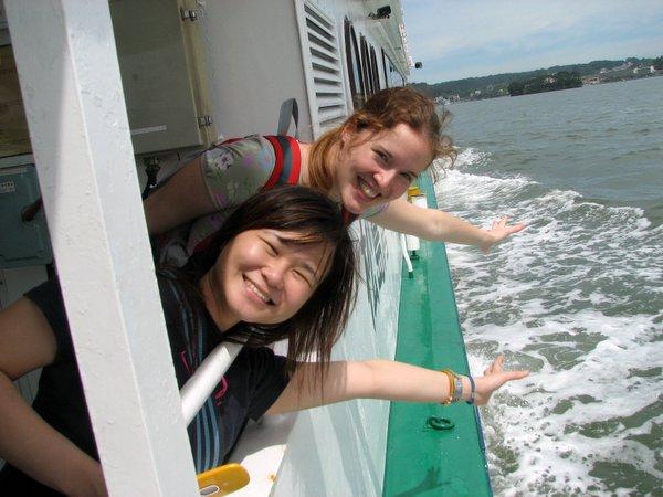 Moi i Lorraine na statku