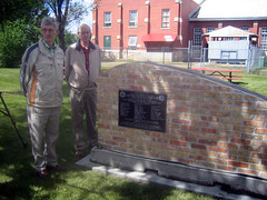 Larry and Uncle Bill beside the Cairn