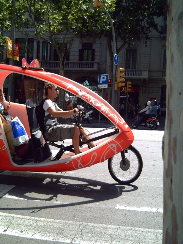 Touristic Transport in Barcelona: Trixis or Taxi Bikes
