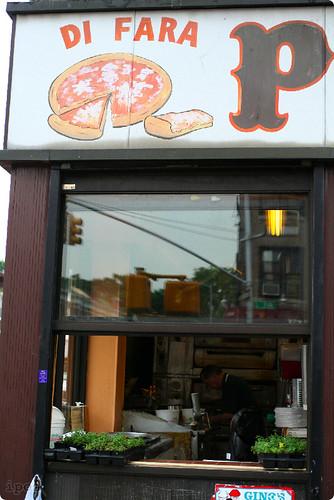DiFara Pizza window