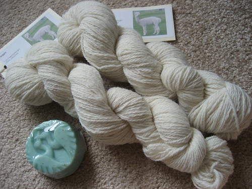 Alpaca yarn from Sunrise Ranch
