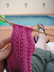 Holiday Hedera knitting