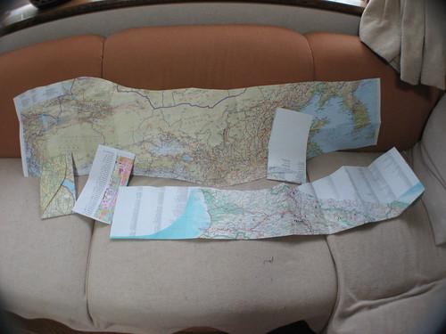 Maps cut / 切った地図