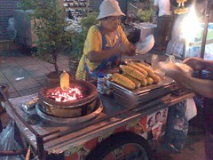 Another barbequed corn lady