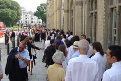 The queue into