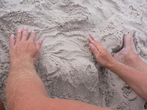 Brunos sandskulptur