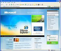 Microsoft.com new home page