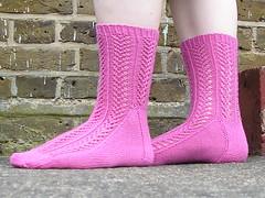 Hedera socks modelled for you