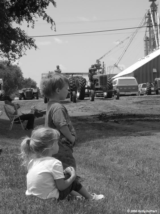 Kids at the 2006 Edgar Tractor Pull by Kelly Hoffart