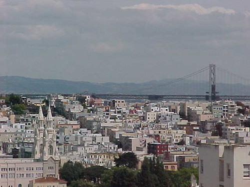 Bay Bridge from Lombard Street