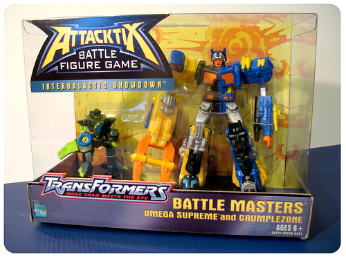 Attacktix Crumplezone and Omega Supreme