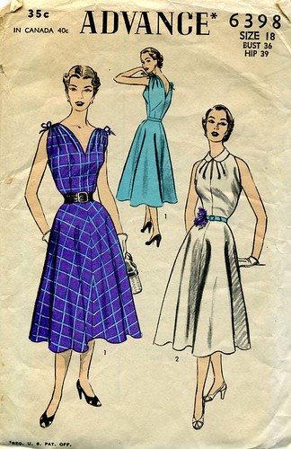 Sew-Retro Vintage Sewing Patterns dress 30s 40s 50s 60s Vogue