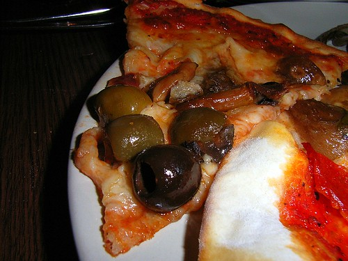 Anchovies, olives and Mushrooms