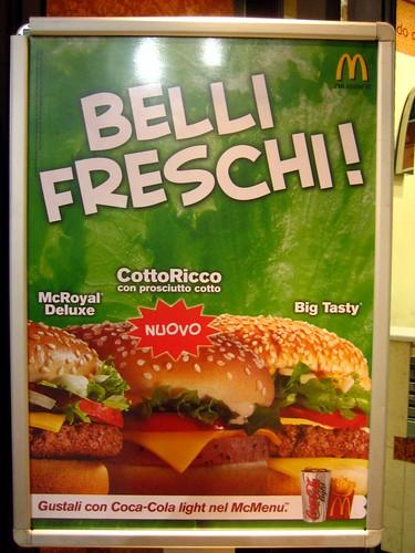 McDonald's, Bologna... ham