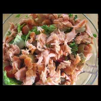 Not Mine - smoked salmon salad