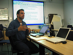 Sean presenting
