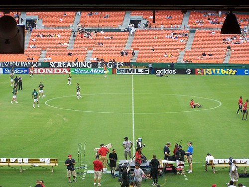 Midfield line, as seen from our seats