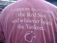 I support two teams: The Red Sox, and whoever beats the Yankees
