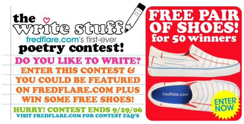 Fred Flare: Write Stuff CONTEST