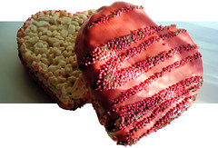 Iced Rice Crispy Hearts photo by Bob.Fornal