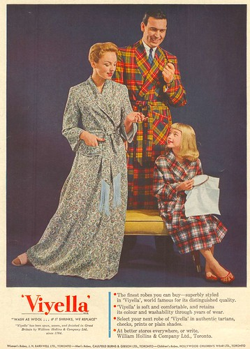 Vintage Ad #29 - The Family Clad in Plaid Stays Together